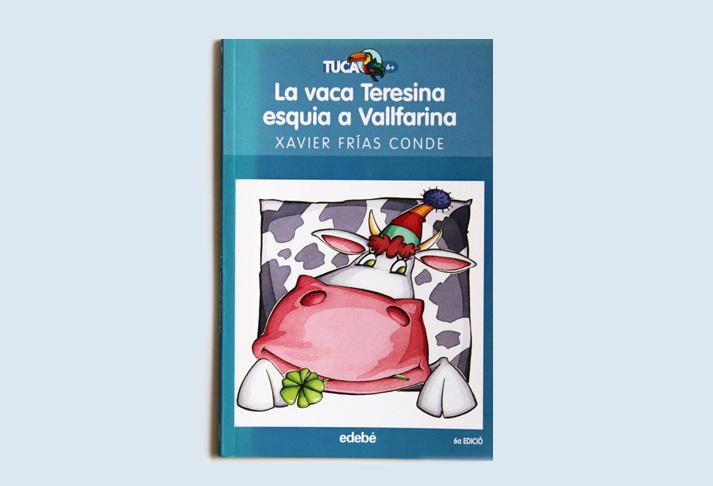 La vaca Teresina esquía a Vallfarina